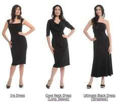 Dresses for hourglass figure Um but the long one needs to be longer!