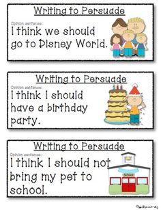 PERSUASIVE WRITING PROMPTS FOR BEGINNING WRITERS - TeachersPayTeachers.com