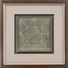 Fourbro Frames R87028Z geometric blueprint III Canvas Artwork, Artwork Prints, Frames, Art On Canvas, Frame
