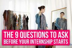 Internship questions
