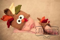 Baby Turkey Hat $27 etsy