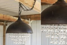 Would LOVE this in the laundry room - a little farmhouse, a little glam.