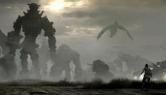 Cool Shadow of the Colossus Panorama Shows Off All Colossi: Have you ever wanted to see all the colossi in one location at the same time? Fantasy Dragon, Fantasy Art, Wallpaper Pc, Anime, Fan Art, Cool Stuff, Drawings, Playstation, Game Art