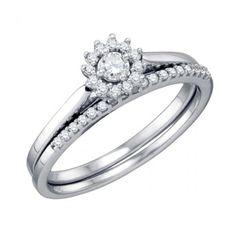Round Halo Diamond Anniversary Ring - 10 year anniversary gift ideas