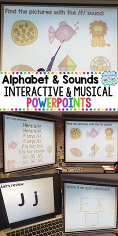 beginning sounds interactive powerpoints alphabet powerpoints