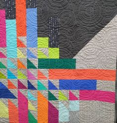 "Still have a couple more show quilts to share!  This is ""Ribbon Dance"" by…"
