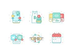 Colorful Feed Icons by Pat Johnson
