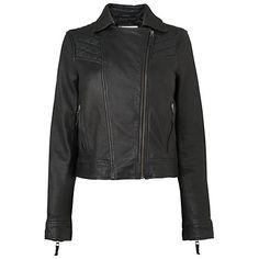 Handmade Women Leather Biker Jacket, Black