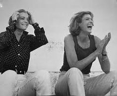 Melina Mercouri and Romy Schneider! that laugh means it all! Cinema Theatre, Star Wars, Lana Del Ray, Romy Schneider, Celebrity Portraits, Amy Winehouse, Beautiful People, The Past