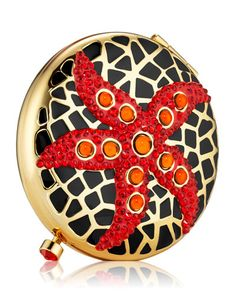Estee Lauder Exclusive Limited Edition Jeweled Starfish Powder Compact by Monica Rich Kosann Holiday Fun, Holiday Gifts, Beauty Companies, Solid Perfume, Christmas Books, Christmas Time, Luxury Beauty, Estee Lauder, Luxury Jewelry