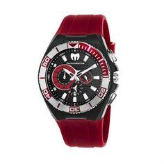 TechnoMarine Men's  Cruise Locker Nylon Strap with Key Ring Watch TechnoMarine. Red nylon strap. Extra silicone strap and cover. Aluminum bezel. Chronograph. Water-resistant to 200 M (660 feet)