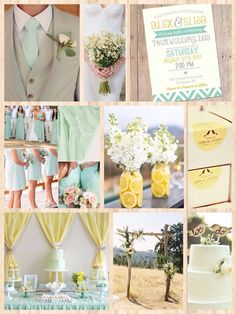 Mint and yellow wedding inspiration!