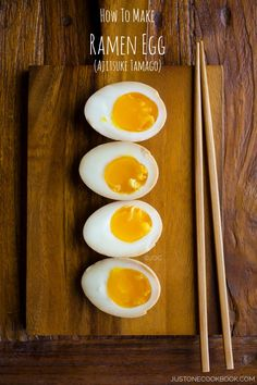 Ramen Egg (Ajitsuke Tamago) #ramen | Easy Japanese Recipes at JustOneCookbook.com