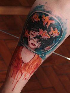 Kelvin Gabriel > Mistaken Identity #tattoo #ink #art #watercolor