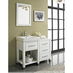 Fairmont 144-V2418A Midtown 24 Inch Open Shelf Vanity in Gloss White