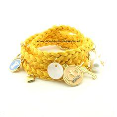 Gevlochten Armband Geel - Armband Online Kopen