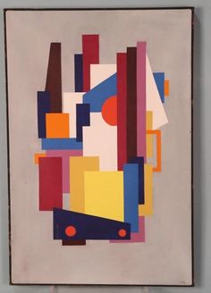 """CARLOS MERIDA """"ABSTRACT"""" OIL ON CANVAS : Lot 80A sold for $1700"""