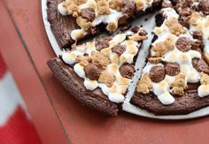 A Year of Pizza: Nutella & S'more Brownie Pizza | BHG Delish Dish