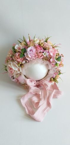 My Flower, Flower Crown, Photography Props, Pink Flowers, Floral Wreath, Awesome, Fabric, Baby, Handmade