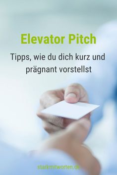 Elevator Pitch: Und was machst du so beruflich? Elevator Pitch: And what are you doing professionall Elevator Pitch, Coaching, Motivational Stories, Life Goes On, Marketing, Starting A Business, Online Jobs, Personal Branding, How To Introduce Yourself