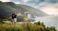 Photo of couple looking at scenery of the Cabot Trail Cape Breton Lonely Planet, Highlands, Trump Website, Cap Breton, Cabot Trail, Small Island, Canada Travel, Nova Scotia, Showgirls