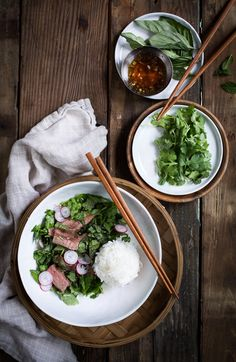 Thai Steak Salad with Lemongrass and Herbs // The Same Two Stools