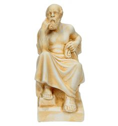 Socrates sculptured of plaster