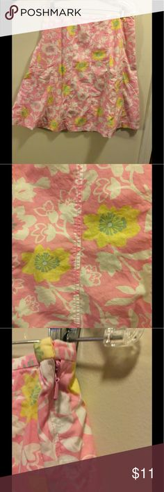 Sigrid Olsen Skirt Floral Pink, Green White A-Line Skirt Side Invisible Side Zipper Sigrid Olsen Skirts A-Line or Full