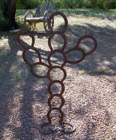Horseshoe Cactus Yard Art Rusty Arizona Cactus by BormanRRRanch on Etsy