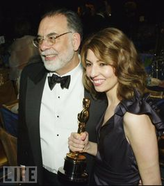 Five-time Oscar winner Francis Ford Coppola at the 2004 Governors Ball with daughter Sofia, who'd just won Best Original Screenplay for Lost in Translation.