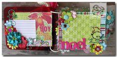 Pages inside Christmas mini album