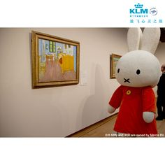 In #Amsterdam #Miffy went to see many world famous paintings by the Dutch Vincent van #Gogh.