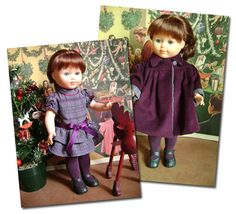 flounced dress, coat and tights patterns