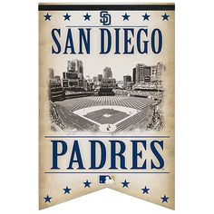 "San Diego Padres 17x26"" Premium Banner"