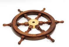 A classical nautical design, the 24 inch ship wheel is made from the finest quality of rosewood. Nautical Wall Art, Nautical Design, Nautical Home, Nautical Interior, Nautical Furniture, Furniture Decor, Furniture Design, Ship Wheel, Boat Wheel
