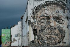 Portraits Chiseled Out of Walls by Vhils