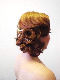 Vintage Wedding Hair! Las Vegas Wedding Hair Stylist Bianca S for Amelia C & Co