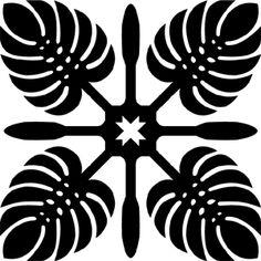 Hawaiian Quilt Tile 54 : HaoleKid