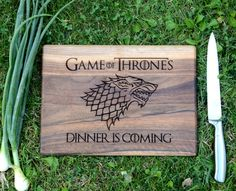 Game of Thrones Cutting Board Wood Walnut Winter is coming Dinner Stark Chopping board Cookware Gift idea Christmas gift