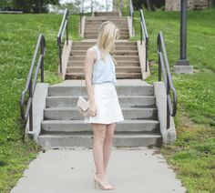 Wearing A White Skirt - Fashion Column Twins