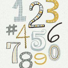 Fototapet - Funky Numbers