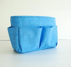 Sale - Bag Organizer - Water Resistant Nylon in Sky Blue- Small on Etsy, $28.00