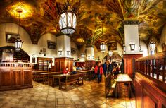 Hofbräuhaus - Münich, Germany.....had a meal here..... Amazing !!