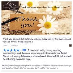 So many lovely thank you messages from our clients