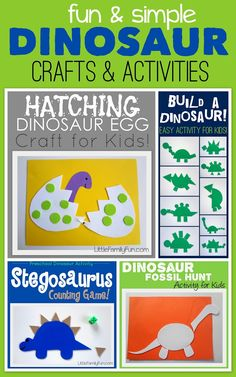 Little Family Fun: Dinosaur Crafts & Activities