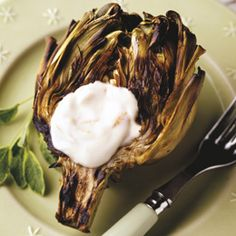 {BBQ GRILLING #BBQ #Grilling Grilled Artichokes with Garlic Mayonnaise}  #grillingbbq