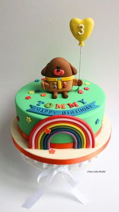 Hey Duggee Cake created by www. Hey Duggee Cake erstellt von www. 2nd Birthday Cake Boy, Toddler Birthday Cakes, Birthday Ideas, Dog Cakes, Festa Party, Novelty Cakes, Cakes For Boys, Celebration Cakes, Party Cakes