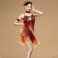 794b73a04094 New 2017 Belly Dance Costume Latin salsa tango Cha Cha Ballroom Flamenco  Dress M/L