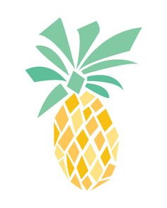 Digital Pineapple Wall Illustration Customizable  itty bitty illustrations by meagchapin