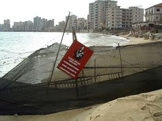 Famagusta.  The Varosha district of Famagusta, as it has been since the Turkish 'invasion' of 1974.